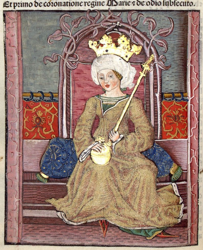 Mária_királynő_a_trónon